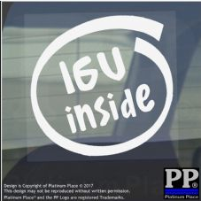 1 x 16V Inside-Window,Car,Van,Sticker,Sign,Vehicle,Adhesive,Engine,Turbo,V8,Fast
